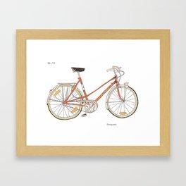 Orange Bike no 16 Framed Art Print