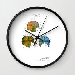 Patent drawing of a Baseball Helmet - Circa 1962 Wall Clock