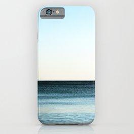 Clean beautiful seascape. Ocean horizon. Nautical background iPhone Case