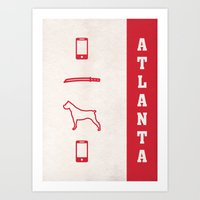 Atlanta Minimalist Poster Art Print