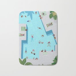 Crisp cut swim Bath Mat