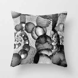 STRANDED/An Abstract Throw Pillow