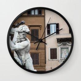 Piazza Navona Wall Clock