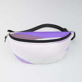 Blue and Lavender Waves Fanny Pack