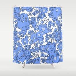 Technology! - Blue Shower Curtain