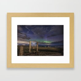 May Aurora at Old Garden Beach #2 Framed Art Print
