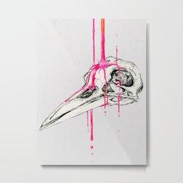 N E O N - crow Metal Print