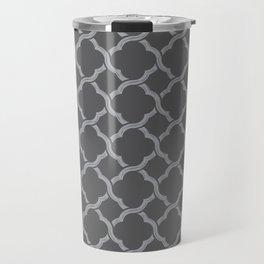 Grey Trellis Travel Mug