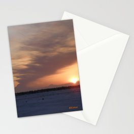 Mt. Redoubt Ashflow at Sunset #1 Stationery Cards