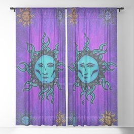 Sublime Moon Tapestry #1 Sheer Curtain
