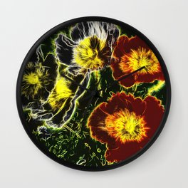 Iceland Poppies Reinvented Wall Clock