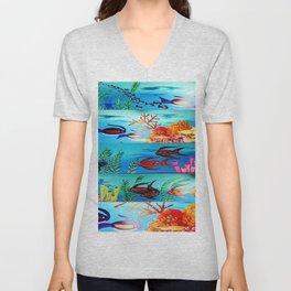 Beautiful Sea Life Unisex V-Neck