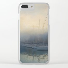 Misty Mooring Clear iPhone Case