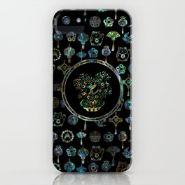 Decorative Chinese Money tree Abalone Shell iPhone Case