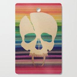 Rainbow Skull Cutting Board