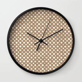Iced coffee spots with texture Wall Clock