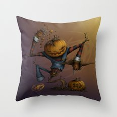Freddy Pumpkins Throw Pillow