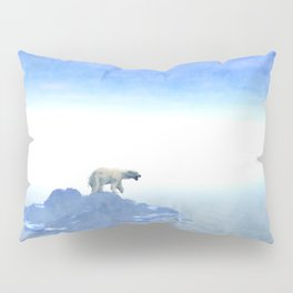 Polar Bear On Iceberg Pillow Sham