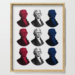President Thomas Jefferson - Red, White, and Blue Serving Tray