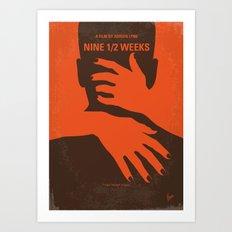 No305 My Nine half Weeks minimal movie poster Art Print