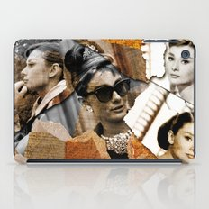 Audrey Hepburn - Ripped Paper Style - iPad Case