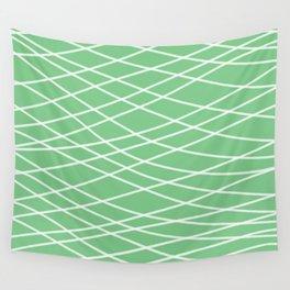 Sage Slanting Brush Strokes Wall Tapestry