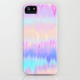 Pastel Rainbow Tie Dye Print iPhone Case
