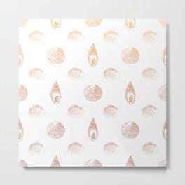 Beautiful Seashell Pattern Metal Print