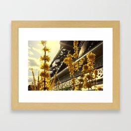 Flowers of the Eiffel Tower Framed Art Print
