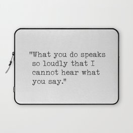 Emerson Ralph Waldo quote awesome 5 Laptop Sleeve
