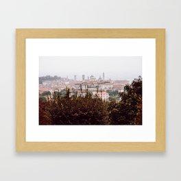 Citta Alta cityscape Framed Art Print