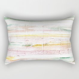 Baby powder abstract watercolor Rectangular Pillow