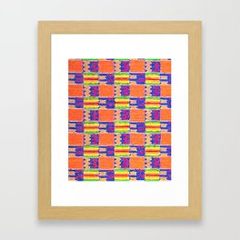 African Influence Textile Framed Art Print