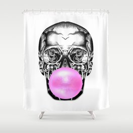 Bubblegum Skull Shower Curtain