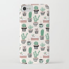Cacti, Coffee and Cake iPhone Case