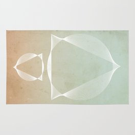 North and South - abstract scene Rug
