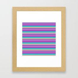 Stripes Colorul Mood Framed Art Print
