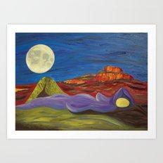 Gaia and Luna Ver. 3.0 Art Print