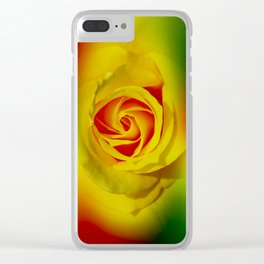 Abstract in Perfection - Rose Clear iPhone Case