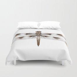 Twelve-Spotted Skimmer Dragonfly Duvet Cover