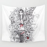 returns Wall Tapestries featuring wonderland shattered by marziiporn
