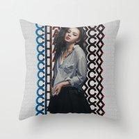 charli xcx Throw Pillows featuring Charli XCX  by Illuminany