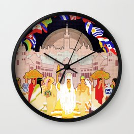 Seville Hispano American Expo 1929 art deco ad Wall Clock