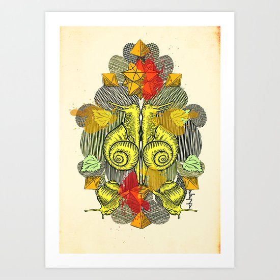 Snailkiss Art Print