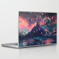 i love you to the moon and back Laptop & iPad Skins featuring The Lights by Alice X. Zhang