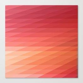 Fig. 044 Coral, Pink & Peach Geometric Diagonal Stripes Canvas Print