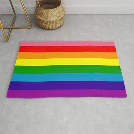 Rainbow Flag (Original Gay Pride Flag Colors) Rug