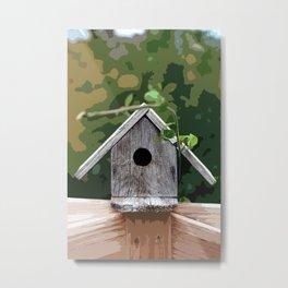 Wooden Birdhouse Metal Print