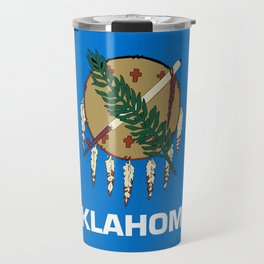 Oklahoma State Flag Travel Mug