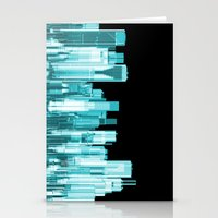 hologram Stationery Cards featuring Hologram city panorama by GrandeDuc